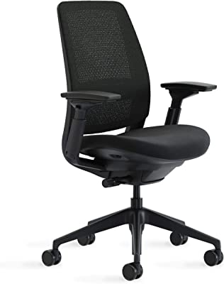 Steelcase Series 2 Office Chair, 3D Microknit Licorice/Cogent Connect Licorice
