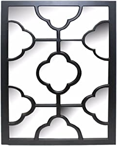 Benjara Elegantly Charmed Wooden Wall Decor, Black Home Accent
