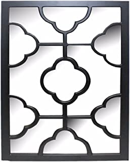 Benzara Elegantly Charmed Wooden Wall Decor, Black Home Accent,
