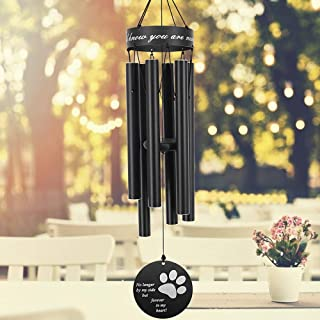 Astarin Pet Memorial Wind Chime, 30'' paw Print Pet Remembrance Gift to Honor and Remember a Dog, Cat, or Other Pet, Premi...
