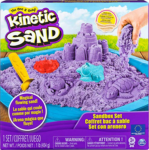 Kinetic Sand Sand Box Set lila