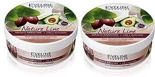 Set of 2 Eveline Nature Line Cocoa Butter & Avocado Oil Nourishing Cream