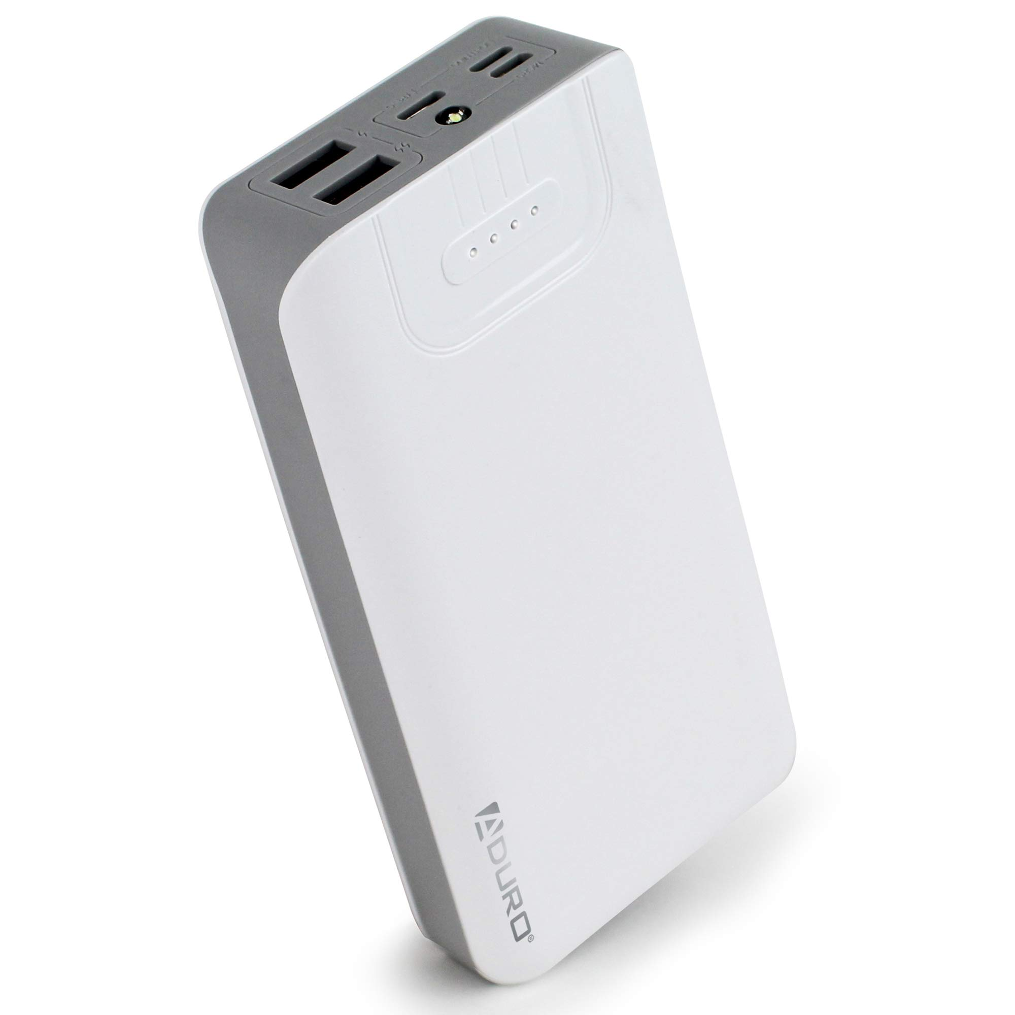 Amazon.com: Aduro Portable Charger Power Bank 20,000mAh External Battery  Pack Phone Charger for Cell Phones with Dual USB Ports for iPhone, iPad,  Samsung Galaxy, Android, and USB Devices (White/Grey)