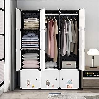 YLiansong Armoire de Rangement Bricolage Garde-Robe Portable Simple Espace Nordique Style Saving Vêtements Cabinet Closets...