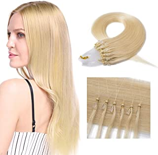 SEGO Micro Loop Human Hair Extensions Micro Rings Link Micro Beads Stick Tip 18