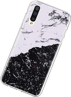 Funda Compatible con Samsung Galaxy A50,Ultra Fina Carcasa Mármol Soft Silicono TPU Transparente Antigolpes Case Slim Gel ...