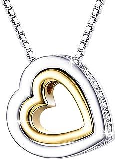 colgante chapado en oro en forma de corazon