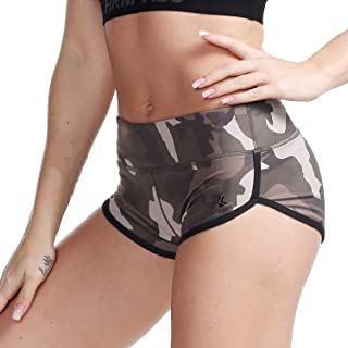 Kipro Women's Active Shorts Fitness Sports Yoga Booty Shorts for Running Gym Workout