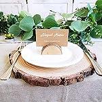 Lot de 20 Stands en Bois Naturel Support Photo Carte Nom Place Carte Numéro Table pour Mariage Anniversaire (20 Titulaires + 20 Papier Kraft) #1