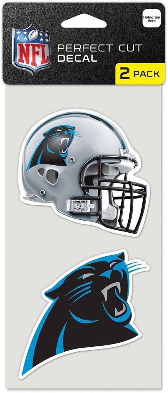 NFL Carolina Panthers Perfect Cut Decal (Set of 2) 4 x 4