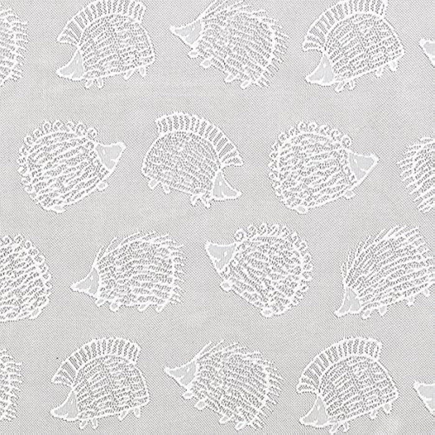 満足できる上に築きます急性【2枚組】 洗えるジャガードレースカーテン リサラーソン ハリネズミ Lisa larson Hedgehog 巾100cm×丈206~240cm 2枚セット(210cm)