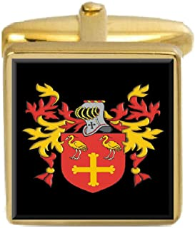 Hennessy Ireland Family Crest Coat Of Arms Heraldry Cufflinks Box Set Engraved