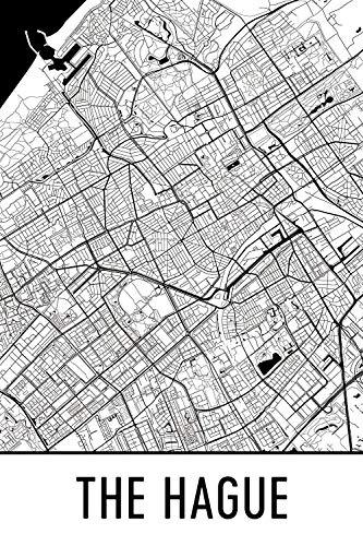 Modern Map Art The Hague Print, Den Haag Art, Den Haag Map, Den Haag Nederland, Den Haag Poster, Den Haag Muur Art, Den Haag Gift, Den Haag Decor, Den Haag Cityscape