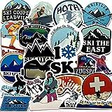 YOUKU Winter Ski Snow Mountain Penguin Graffiti Sticker Luggage Laptop Skateboard Refrigerator Ski Cart Sticker 50 Pcs