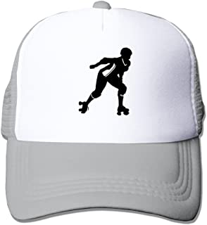 Sport Adult Unisex Roller Derby Girl 100% Nylon Mesh Caps One Size Fits Most Adjustable Hats