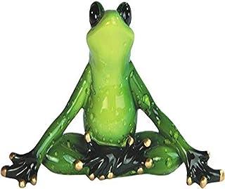"StealStreet SS-G-61156 Green Frog Yoga Figurine (Set of 2), 6"""