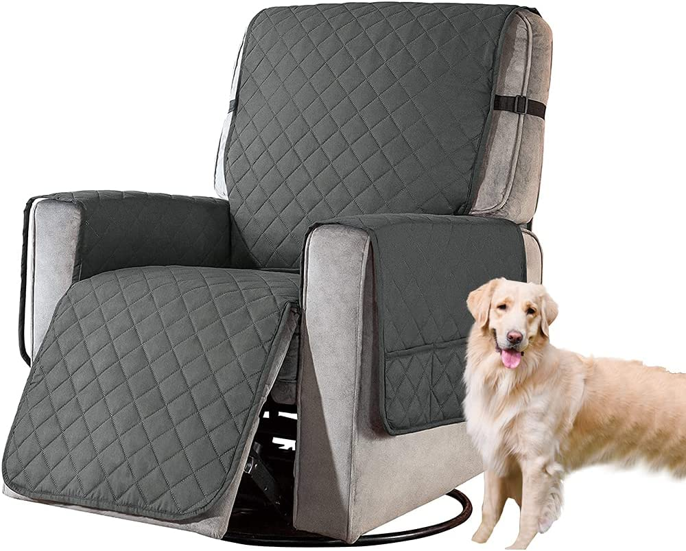 Waterproof Max 88% OFF Reversible Recliner Slipcovers Chair Gray Japan's largest assortment Co