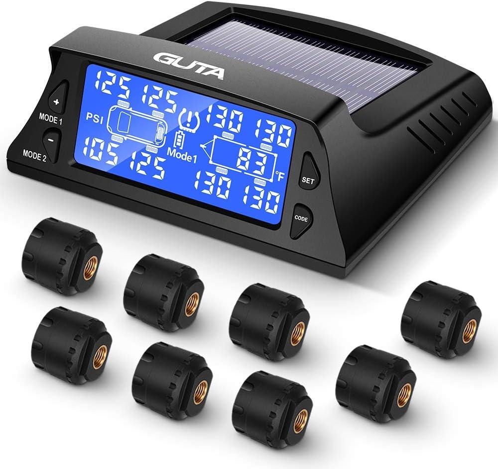 GUTA Tire Pressure Time sale Monitoring System - Sensors 8 7 Alarm Max 83% OFF Modes