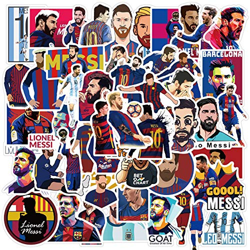 WUWEI Pegatinas Barcelona Football Star'S Teléfono Móvil Pegatinas Con Maleta Impermeable Pegatinas