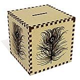 Azeeda 'Peacock Feather' Money Box / Piggy Bank (MB00015104)