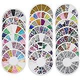 Bluelans® 20x 3D Glitters Blume Nagelsticker Schleife Strass Nagel Art Sticker Dekoration