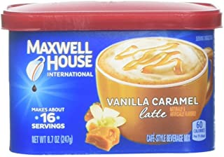 Maxwell House International Cafe Vanilla Caramel Latte Beverage Mix, 8.7 Ounce, Pack of 8