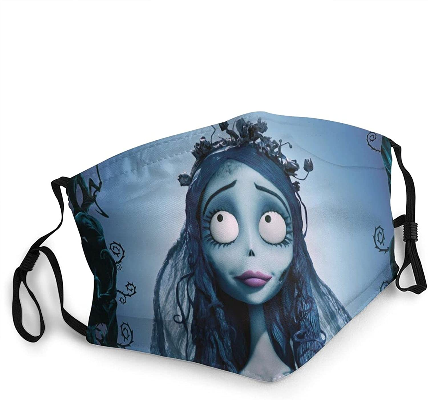 Corpse Bride Adult Dust Face Mask Reusable Washable Adjustable Ear Balaclava Windproof Cover