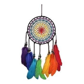 Traumfänger mit Regenbogen-Design für Mädchen, Kinder, bunt, für Schlafzimmer, Wanddekoration, handgefertigt