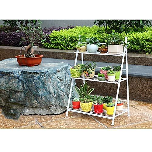 YINUO Plateau à fleurs Supports de balcons spéciaux intérieurs à plusieurs étages en fer forgé Salon en bois massif Salon Pot à fleurs Sur pied (Color : A)