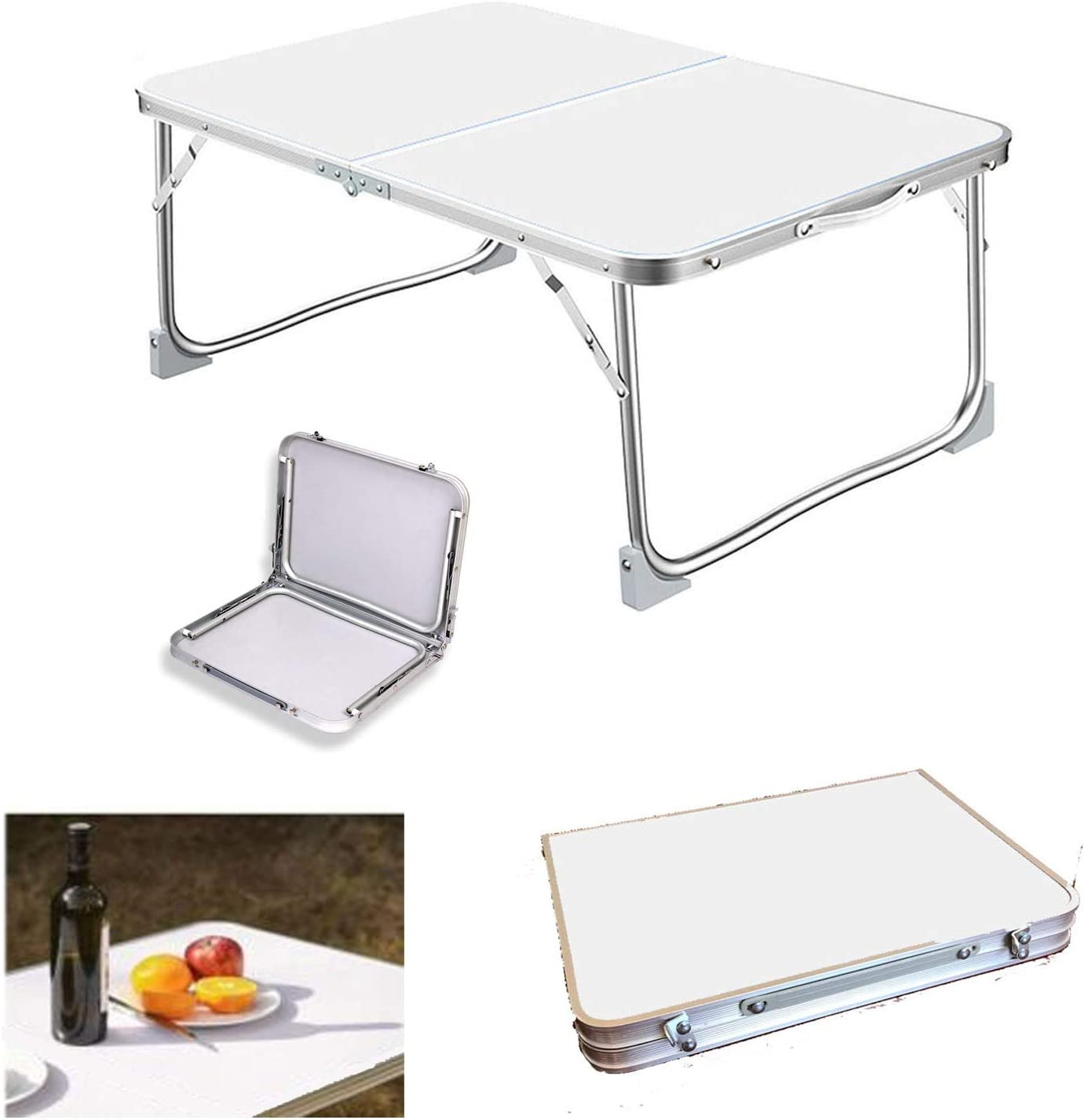 Folding Gifts Picnic Challenge the lowest price of Japan ☆ Table 60x40x26cm Lightweight Ha Aluminum Portable