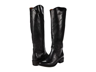 Frye Diana Seam Tall (Black Antique Pull-Up) Women