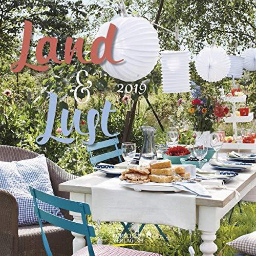 Land & Lust (BK) 223819 2019: Broschürenkalender mit Ferienterminen. Landleben und Gärten. 30 x 30 cm