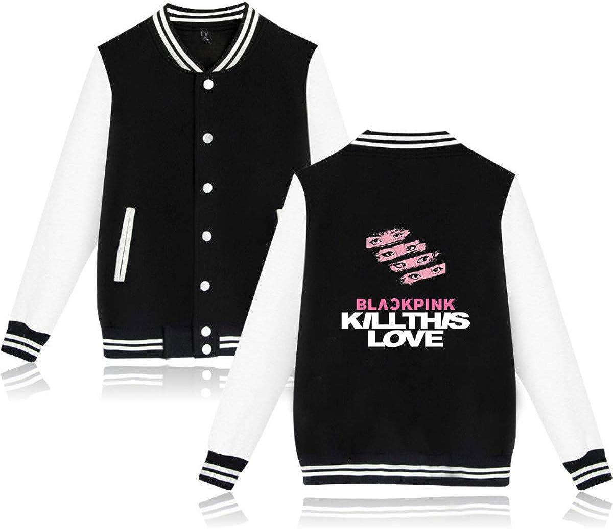 Forever Younger Kpop Blackpink Bedruckte Baseballmäntel Jacken Mäntel Outwear Langarm Hoodie Sweatshirt Lisa Rose Jennie JISOO 1