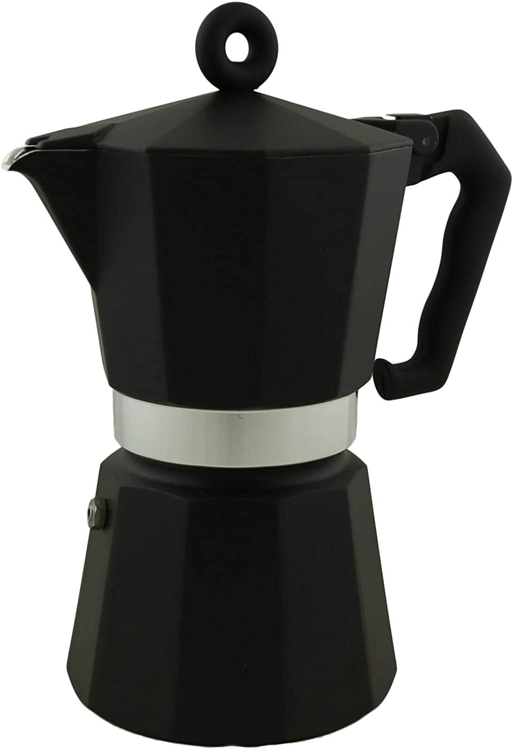 Illy Coffee Moka Pot, 6 CUP, Black