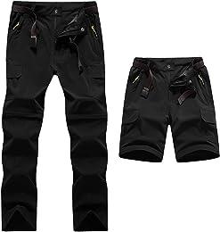 WWSUNNY Pantalon de randonnée 2 en 1 pour Hommes C
