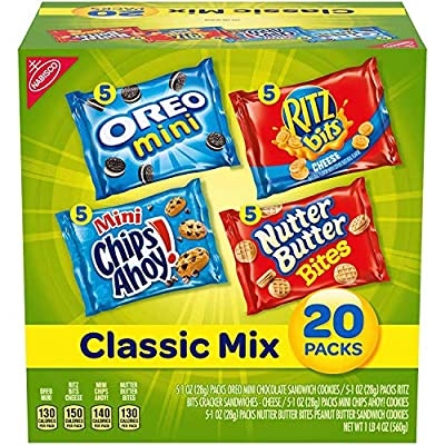 Nabisco Classic Mix Variety Pack, OREO Mini, CHIPS AHOY! Mini, Nutter Butter Bites, RITZ Bits Cheese