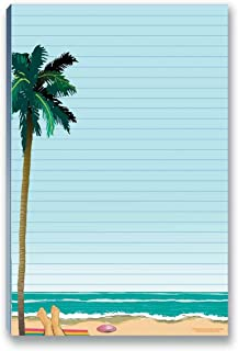 Beach Notepads with Magnet - Magnetic Beach Notepads for Fridge - to Do List, Grocery List