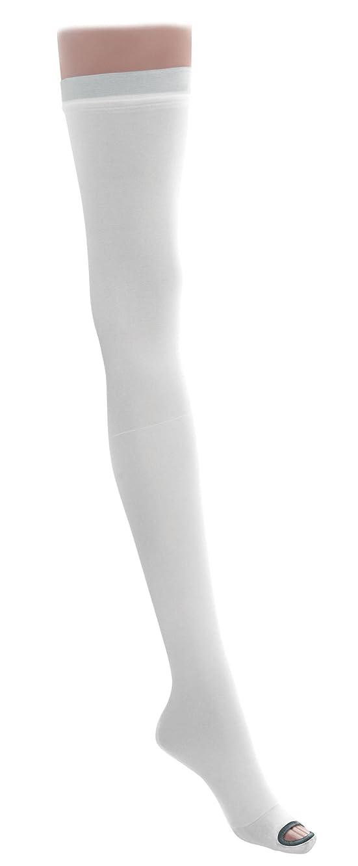 ロゴ反発する実験をするMedline MDS160884 EMS Latex Free Thigh Length Anti-Embolism Stocking, X-Large Regular, White (Pack of 6) by Medline