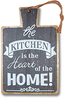 Desi Rang® Plaque Wall décor for Kitchen, Dinning Room, Gift, Art Wooden Quotes Hanging for Kitchen Family Home Husband Wi...