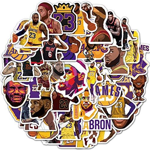 MBGM 50pcs NBA baloncesto superestrella Lebron James maleta skateboard portátil impermeable graffiti pegatinas