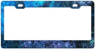 Black License Plate Frame Aluminum Metal, Car Plate Tag Frame, Novelty License Plate Cover Holder