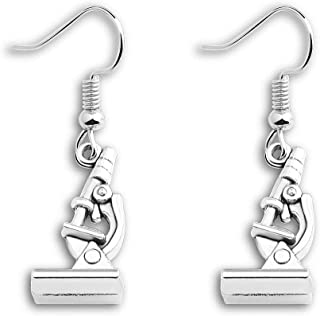 ENSIANTH Biology Chemistry Earrings Gift Science Graduation Microscope Charms Earrings