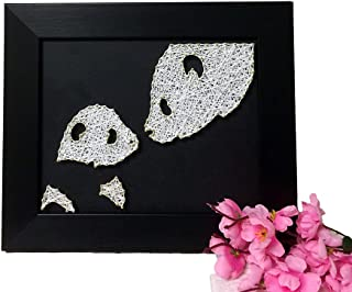 E&M String Art Panda Family Handmade DIY Decoration Family Decoration Painting