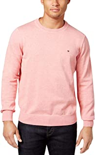KLJR Men Elbow Patch Casual Knitted Crewneck Pullover Sweater