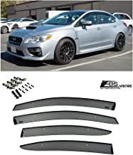 Extreme Online Store Replacement for 2015-Present Subari WRX & STi | EOS Visors JDM Clip-On Style Side Rain Guard Window Visors Deflectors Vents