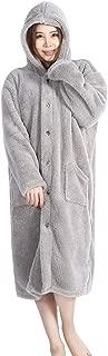 Oseamaid マイクロファイバー 着る毛布 ルームウェア 静電気防止 洗える フード ポケット付き ふわふわ保温 軽量 (グレー)