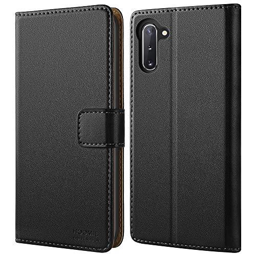 HOOMIL Handyhülle für Samsung Galaxy Note 10 Hülle, Premium PU Leder Flip Schutzhülle für Samsung Galaxy Note 10 Tasche (Nicht für Samsung Note 10+), Schwarz