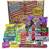 Heavenly Sweets Amerikanische Vegane Süßigkeiten-Geschenkbox - Auswahl an süßen Leckereien aus den USA - Geschenke für Weihnachten, Geburtstag, Valentinstag - 13 Stk., coole Retro-Box