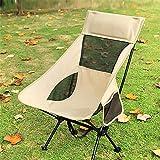Silla de playa portátil para exteriores, boceto, camping, pesca, luna, taburete pequeño para picnic (color: beige alargado)