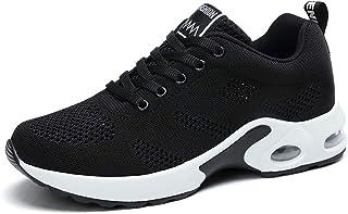ZLYZS Zapatillas De Running para Mujer, Zapatillas De Malla para Gimnasia Zapatillas De Deporte Ligeras con Plataforma De ...
